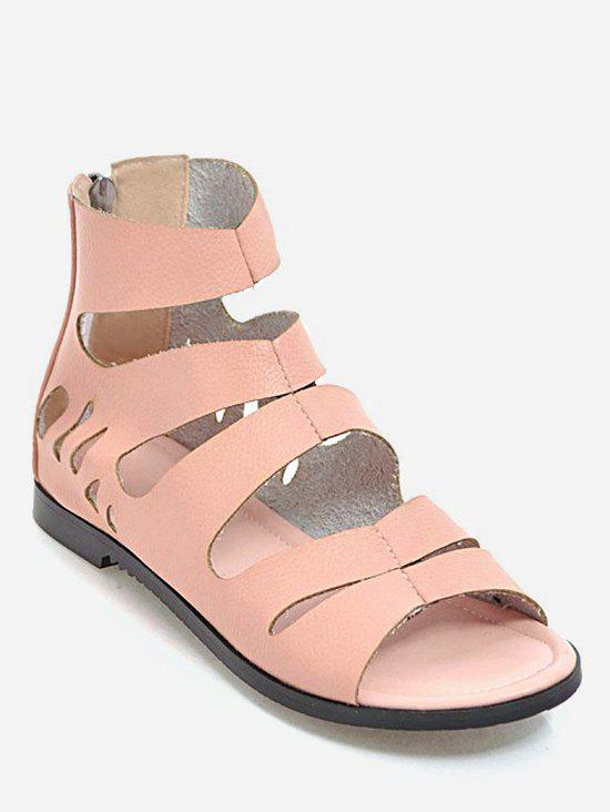 Sale Plus Size Hollow Out Leisure PU Leather Outdoor Sandals