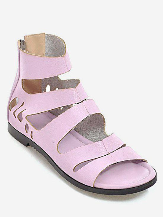 Hot Plus Size Hollow Out Leisure PU Leather Outdoor Sandals