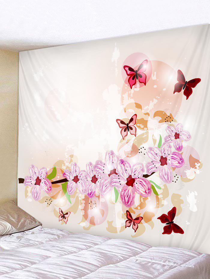 New Wall Hanging Decoration Butterflies and Flowers Print Tapestry