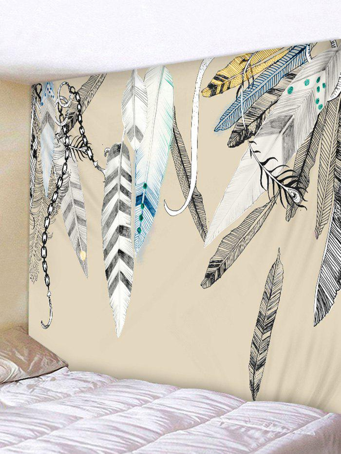Best Feather Printed Wall Tapestry Hanging Decoration