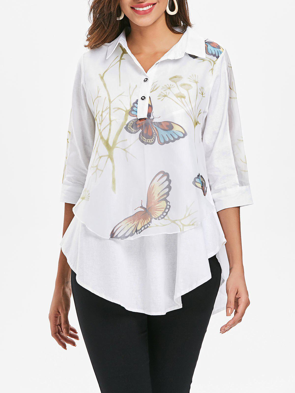 Buy Printed Overlay Tunic Top