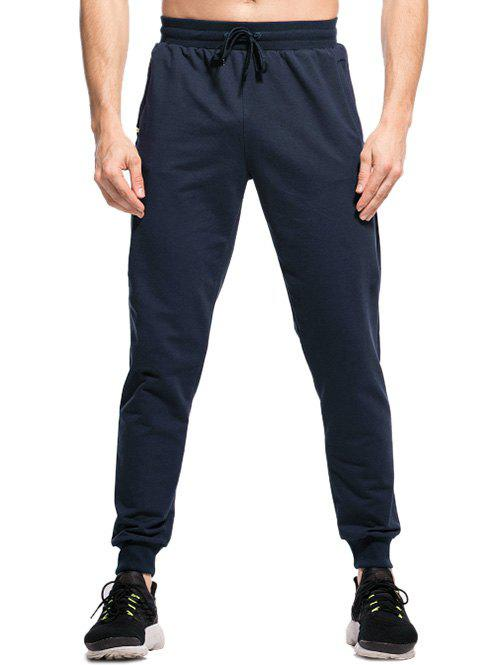 Shop Elastic Waistband Two-pocket Jogger Pants