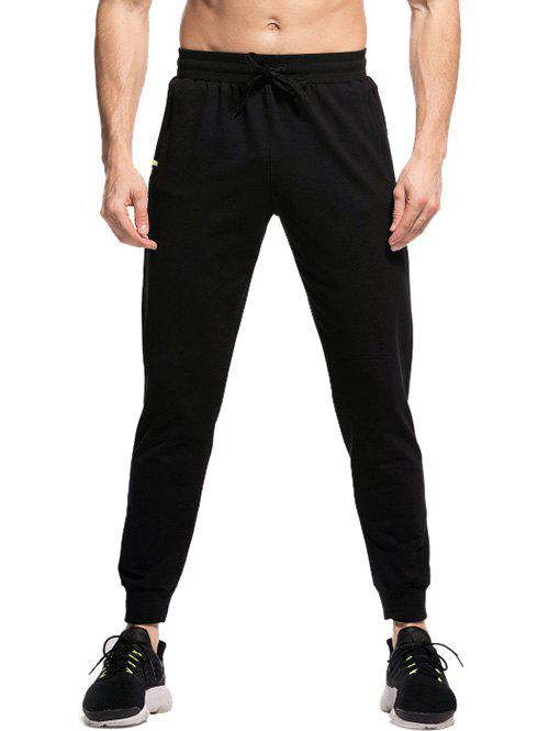 Unique Elastic Waistband Two-pocket Jogger Pants