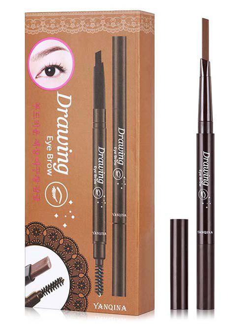 Fashion Beauty Double Ended Long Lasting Waterproof Rotate Eyebrow Pencil