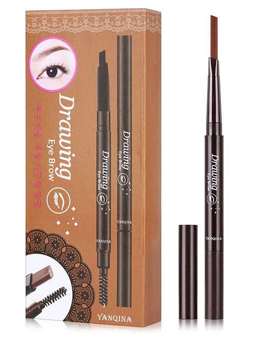 Hot Beauty Double Ended Long Lasting Waterproof Rotate Eyebrow Pencil