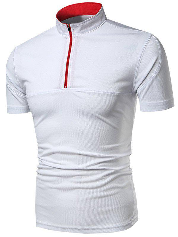 Outfits Zip Placket Short Sleeve Activewear Tee