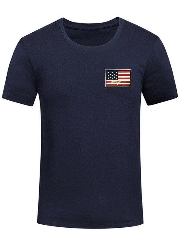 Outfit Chest Patriotic American Flag Panel Tee Shirt