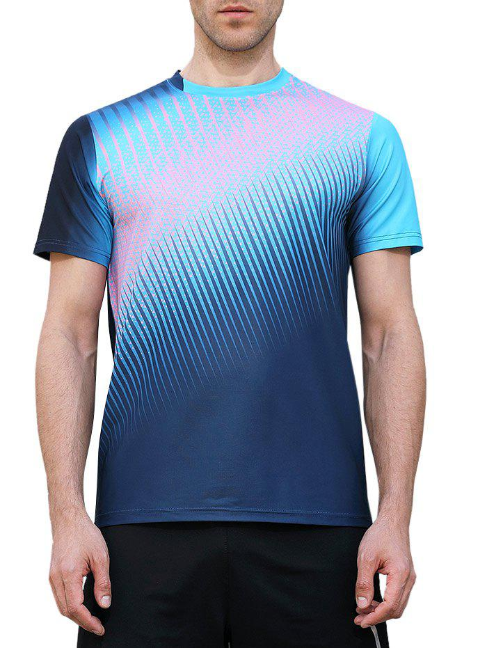 Outfit Triangle Print Fast Dry Breathable Activewear T-shirt