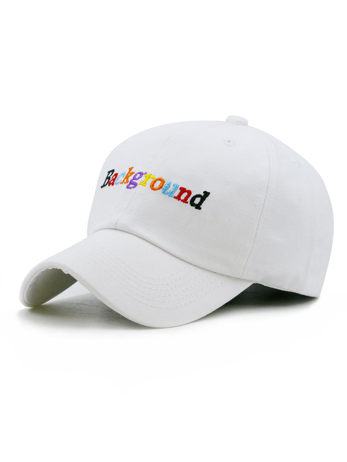 Latest Colored Background Embroidery Baseball Cap