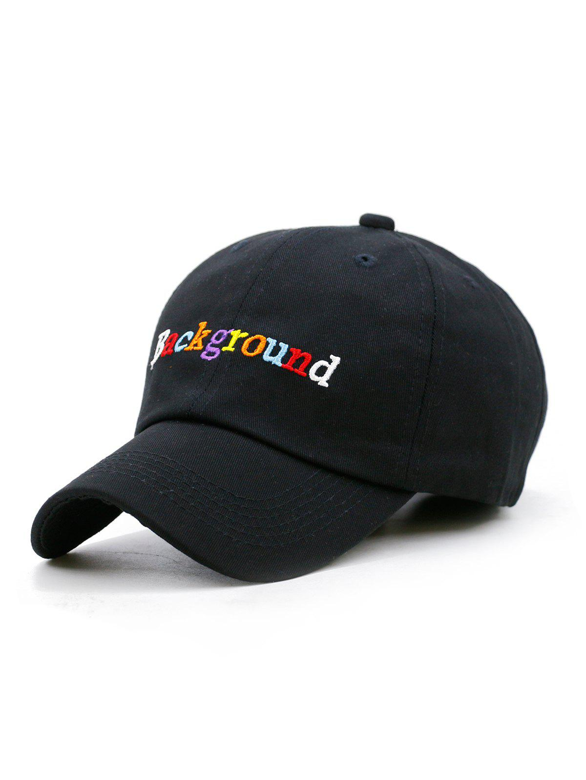 Buy Colored Background Embroidery Baseball Cap