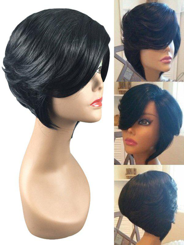 Sale Short Inclined Bang Layerer Straight Synthetic Wig