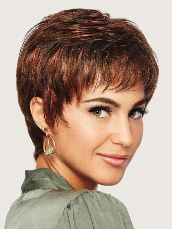 Sale Short Full Bang Straight Colormix Synthetic Wig