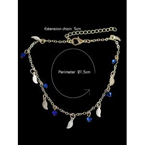 Leaves Designed Artificial Diamond Chain Anklet -