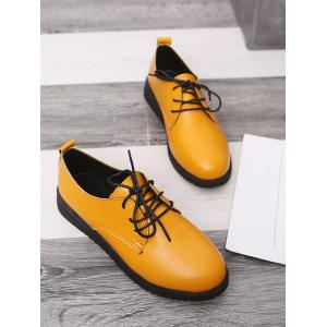 Plus Size Lace Up Low Heel Casual Brogues Shoes -