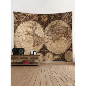 Vintage Map Printed Wall Tapestry Hanging Decoration -