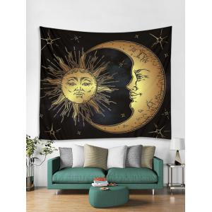 Sun Star Moon Printed Wall Tapestry Hanging Decoration -