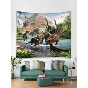 Different Jurassic Dinosaurs Print Hanging Tapestry -
