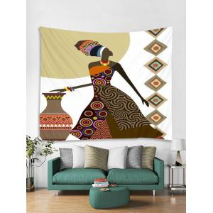Native Girl Print Wall Tapestry Hanging Art -