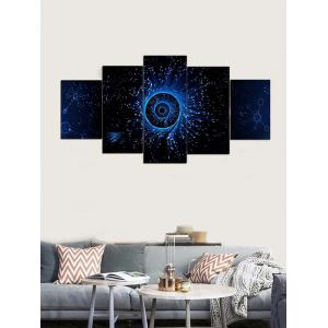Galaxy Eye Print Unframed Split Canvas Paintings -