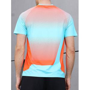 Square Print Faster Moisture Absorption Gym Tee -
