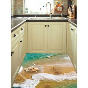 Starfish Beach Print Removable Floor Sticker -