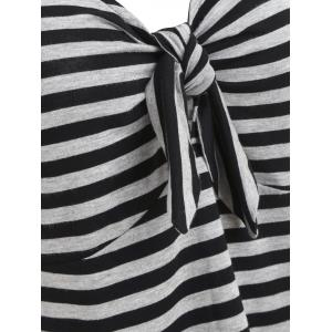 Striped Knot Tie T-shirt -