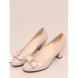 Plus Size Block Heel Bowknot Casual Party Pumps - APRICOT Outlet With Paypal Order Ebay Online Cheap Shop g5f5TKdX7O