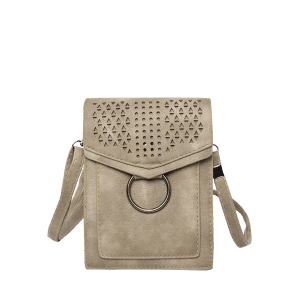 Flap PU Leather Hollow Out Casual Cellphone Bag -
