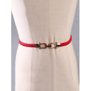 Vintage Metal Buckle Dress Blouse Skinny Belt -