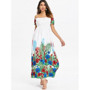 Bohemian Off Shoulder Long Dress -