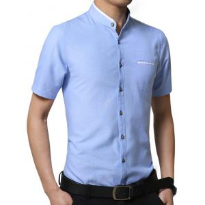 Casual Solid Color Short Sleeve T-shirt -
