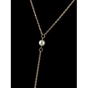 Artificial Pearl Thin Y Shaped Body Chain -