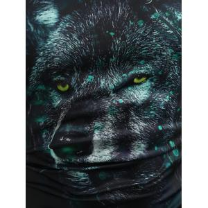 3D Wolf Print Casual Tank Top -