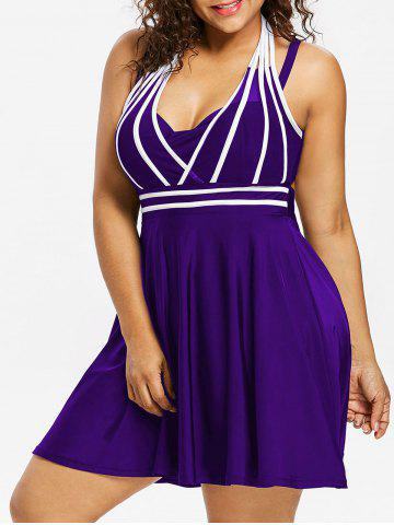 Hot Plus Size String Skirted One Piece Swimsuit