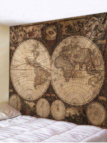Fancy Vintage Map Printed Wall Tapestry Hanging Decoration