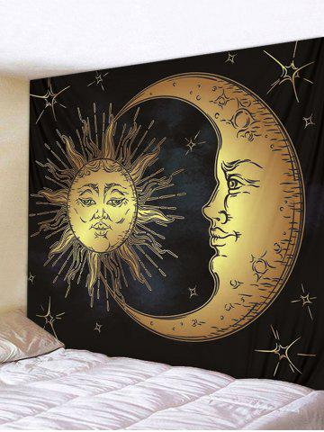 Fancy Sun Star Moon Printed Wall Tapestry Hanging Decoration