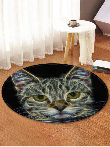 Outfit Cat Pattern Anti-skid Round Floor Rug