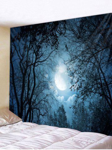 Trendy Moon Night Forest Print Wall Decorative Tapestry