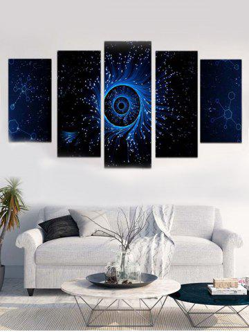 Trendy Galaxy Eye Print Unframed Split Canvas Paintings