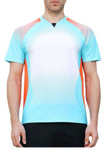 Affordable Square Print Faster Moisture Absorption Gym Tee
