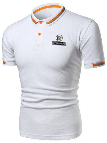 Store Letter Graphic Casual Polo Shirt