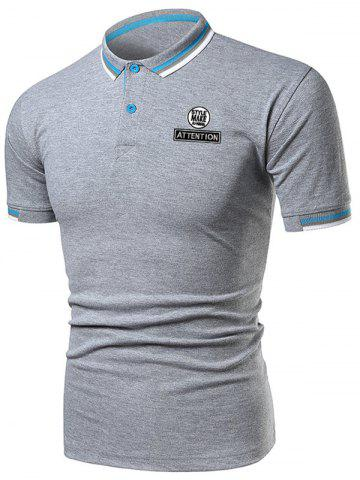 Hot Letter Graphic Casual Polo Shirt