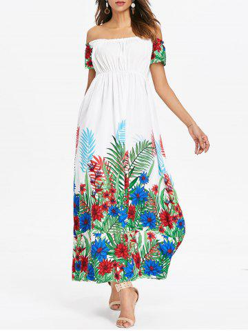 Cheap Bohemian Off Shoulder Long Dress