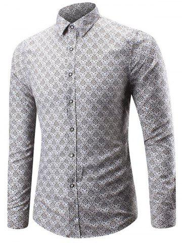 Discount Compact Floral Print Casual Shirt