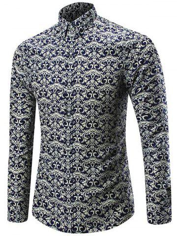 Outfits Long Sleeve Allover Artistic Print Shirt