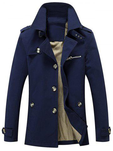 Cheap Turn Down Collar Epaulet Design Button Up Jacket