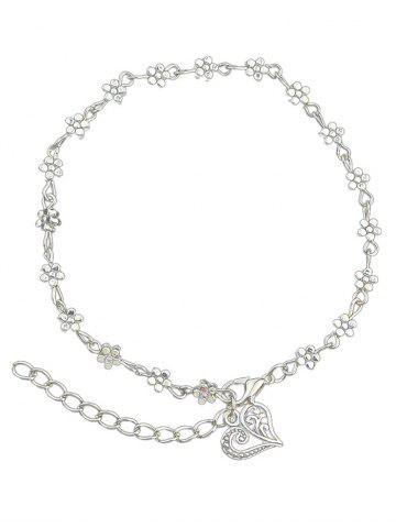 Love Flower Bead Chain Anklet