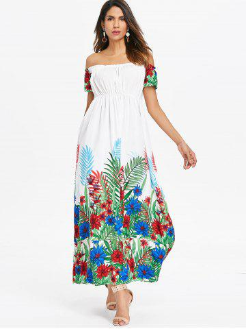 Bohemian Off Shoulder Long Dress