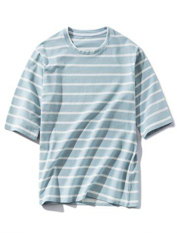 Loose Stripe Round Neck T-shirt