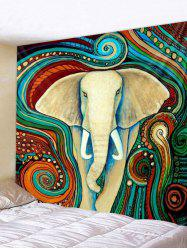 Bohemian Elephant Print Wall Hanging Decor Tapestry -